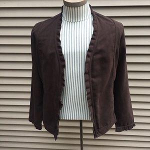 Chico's brown lightweight no-wrinkle jacket blazer